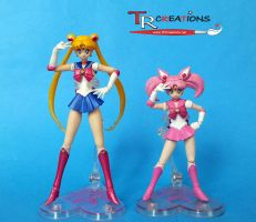 Sailor Moon and ChibiMoon S.H. Figuarts by zelu1984