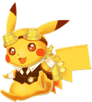 SteamPunk Pikachu by Rainey-Kins