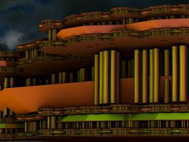 Not the usual fractal Metropolis by PhotoComix2
