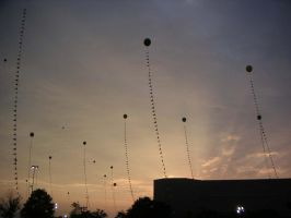 Sunset and ballons by lavonne