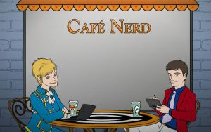 Cafe Nerd Promo Art by Whimsy-Floof
