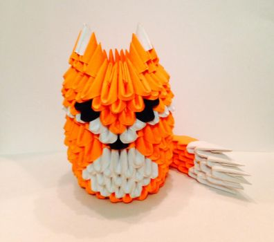 3D Origami Fox by LaurenAnisa