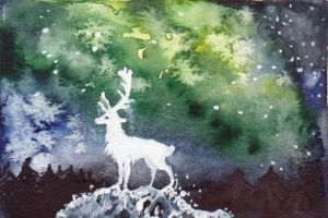 The White King ACEO by Forestia