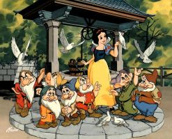 Snow White and The 7 Dwarves by PK4only