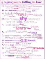 13 signs you in love by faither1382