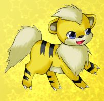 Xanthous The Shiny Growlithe by Dewyewy