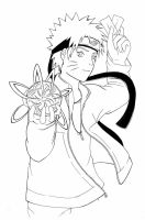 Naruto Rasengan - lineart by Quiss