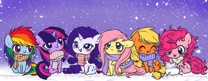 snowponies by ponymonster