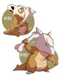 104 - Cubone and 105 - Marowak by steven-andrew
