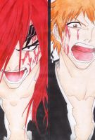 Renji and Ichigo by Silvera-chan
