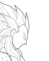 Vegeta SSJ4 1st preview by drozdoo
