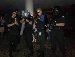 Wesker and his Umbrella Goons by BlueEyesMaster