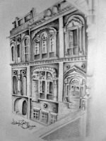 old lahore building by lalarukhahsan