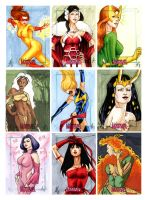 Women of Marvel 2 Sketch Cards by AllisonSohn