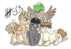 5 seconds of summer ponies by Phewmonsuta