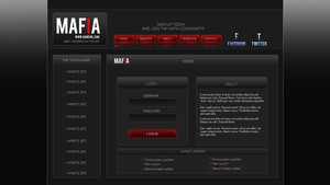 Mafia Game login v3 by Kinetic9074