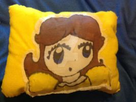 Princess Daisy Pillow made by moi by No1Daisyfan