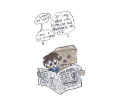 Lets read the newspaper... by ShoobaQueen