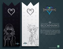 Kingdom Hearts Bookmarks by NightBlossom66