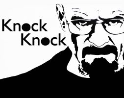 Breaking Bad Stencil - Walter White Knock Knock by cytherina