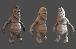 Arena Net Creature Art Test Low Poly wip by MrNinjutsu