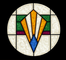Art Deco Style Stained Glass Drawing by rockafellow