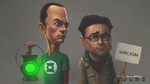 Sheldon Cooper and Leonard by zhiken