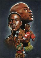 Floyd Mayweather Jr by SteveAlce
