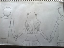Yuki, Tohru And Kyo by NoOneKnowsThisGirl