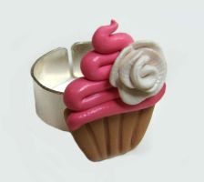 Cute Pink Cupcake Ring by yobanda