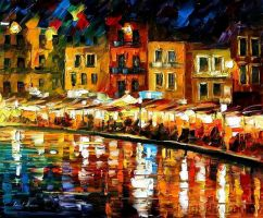 Afremov CRETE GREECE Original by Leonidafremov
