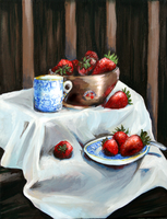 China and Strawberries by lilesa