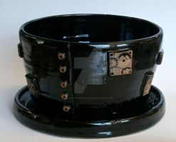 Steampunk Flowerpot by ChristinaRoth333