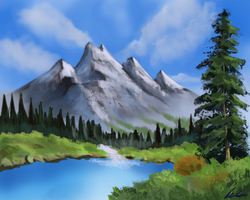 Landscape Painting by Germanielmer17