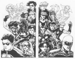 Young Justice, Young Avengers by olybear