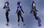 Raven Wetsuit/Scuba Concept Sheet Color Commission by BlueHedgehog25