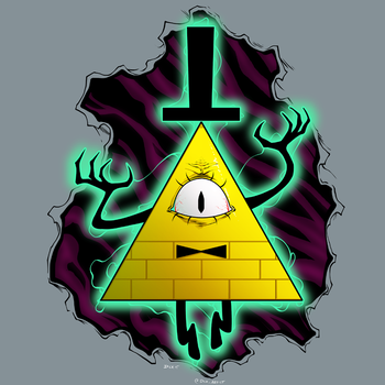 Bill Cipher by dwaynebiddixart