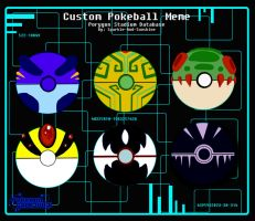Custom pokeballs by Charizardtamer12