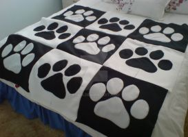 Paw Print Blanket by Ryxia