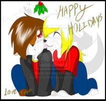 HAPPY HOLIDAYS .:late submision sorry guys:. by KiaTheWolf