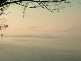 River and fog ... no. 7 by Gumista