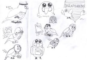 Kakapo Doodles by coolemyasi