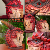 Red Dragon Volkaos Sculpt by DragonosX