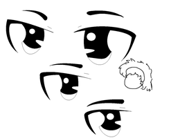 anime pratice mostly eyes XD by monkiesonunicyclesXD