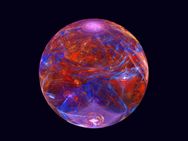red and blue marble by tsahel