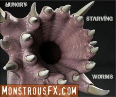 MonstrousFX - Hungry Worm Creatures by monstrousFX
