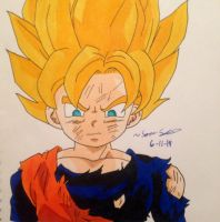 Goten (Super Saiyan) -REMAKE.- by dbz-senpai
