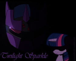 Twilight Sparkle Mech Battles Are Magic Wallpaper by PonyEcho