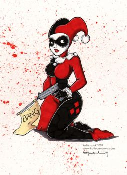 harley quinn by katiecandraw