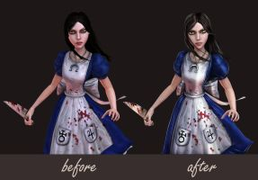 Alice - Before and After by Halli-well